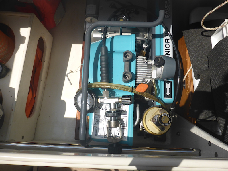 Amel Super Maramu 2000 Scuba Compressor Bauer Junior